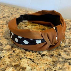 Cute satin covered headband. Polka dots! NWT